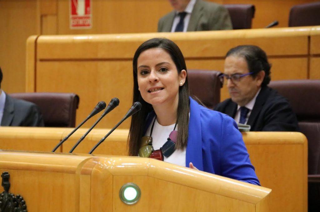 Yaiza Castilla en el Pleno del Senado