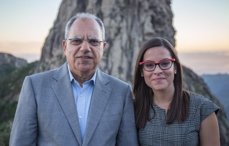 Casimiro Curbelo y Yaiza Castilla