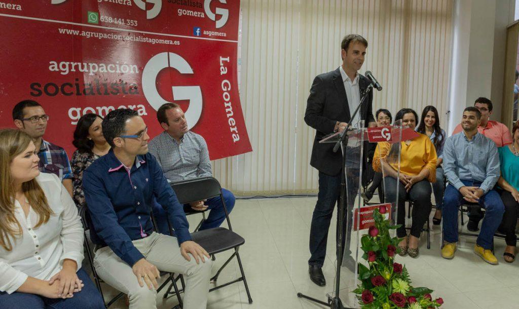 Adasat Reyes elegido secretario local de ASG en San Sebastián de La Gomera